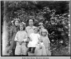 Vera Soboleff Bayers, and five of her children at Kake.