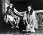 Chris Makua and Diane Benson in a Naa Kahidi Theater production.