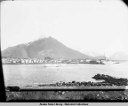 General View of Sitka and Indian Village, Alaska. c. 1896.
