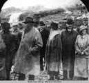 President and Mrs. Harding at Mendenhall Glacier; other people in attendance are Gov. Bone and...