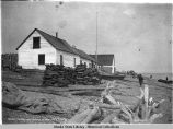 A. C. Co. trading post. Tyonok [sic] Alaska May 6, 1906 [Tyonek].