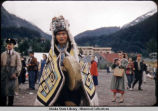 Indian with Chilkat Blanket in 4th July Parade, 1957.