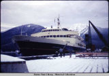 "Inauguration of ferry ""Malaspina"" - Bow, Jan. 21, 1963."