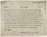Telegram dated August, 1945, to Chief of Staff from Secretary of the Navy James Forrestal. ...