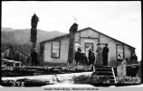 People in front of Chief Shakes house, Wrangell. ca. 1916.
