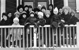 Sunday School, Thane, Alaska, Betty Olsen middle with white hat.