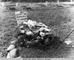 Grave of Major Kermit Roosevelt at Fort Richardson Cemetery, Alaska, June 6, 1944.