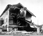 Close up of damaged home, Dutch Harbor.