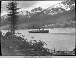 Old side wheeler Str. Ankon [Ancon]. Juneau, Alaska 1886.