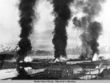 Bombing of Ft. Mears on Amaknak Island on June 3, 1942 by the Japanese.