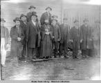 Russian preast [priest], chiefs and head men of the Thlingets, Sitka, Alaska.