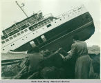 Canadian ship Princess Kathleen when she sank off Lena Point, 18 miles north of Juneau, in...