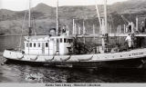 Fishing tender TROJAN at cannery dock.