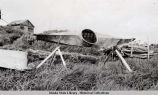 Native kayak up on Nunivak Island, summer 1940.