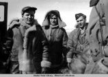 Crew of 1st B-18 to land, St. Paul, 1943.