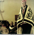Man in Chilkat blanket.