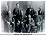 "Portrait of eight men including L. N. ""Jack"" McQuesten."