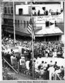 Juneau 1959 July 4. Raising of 49 star flag.