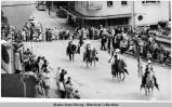Alaska Day Parade.  California Riding Club - Contra Costa Mounted  Posse.  Palomino horses were...