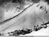 Ascending Chilkoot Pass. Spring of 1898.
