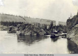 Steamer ascending Five Fingers Rapids.