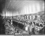 Treadwell boarding house (Alaska).  Main dining room July 4th 1908.