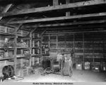 Interior view of receiver station warehouse Cold Bay, 10 Nov. 1950.