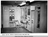 Cold Bay, Interior of receiver building. Taken August 1949.
