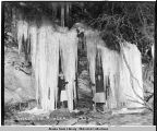 Icicles in Alaska.