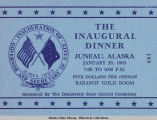 Tickets to Inaugural Dinner, #188.