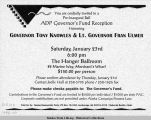 Invitation to a Pre-Inaugural Ball : ADP Governor's Fund Reception, Honoring Governor Tony Knowles...