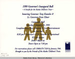 Invitation (with envelope) to the 1999 Governor's Inaugural Ball - A benefit for Alaskan...