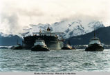 Tanker Exxon Valdez  towed to Naked Island