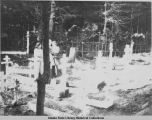 Cemetery for Aleutian Islanders [Unangan] during WWII died of T.B. and other diseases 1940s.
