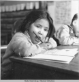 First time school. Fishhook. [Chalkyitsik] 3/1942.