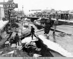 Fourth Avenue, Anchorage, after 1964 earthquake.