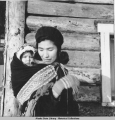 Annie James and baby, Ft. Yukon 2/1940.