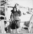 Stiff frozen coyote fresh from the trap line - fort Yukon 2/1940.