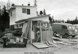 Hooverville in Fairbanks during the Pipeline boom years.