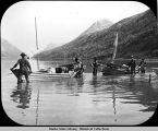 Boats ready to start, [Lake Bennett], 1897.