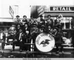 Tlingit band, Juneau, July 4th, 1907.