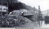 Stedman Street Bridge, Ketchikan, 1945.