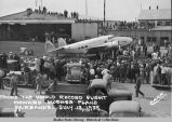 Round The World Record Flight, Howard Hughes Plane,  Fairbanks - July 13, 1938.