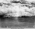 Ice breaking off Childs Glacier, Copper River, ca. 1910.