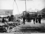 Douglas, Alaska, after the fire, Mar. 9, 1911.