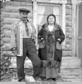 Ft. Yukon Native village, native couple.  4/1941.