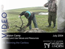 Immersion Camp: 29.  Skinning the Caribou