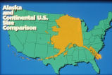 Alaska and the continental U.S. size comparison.