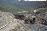 Mining operations at Little Squaw Creek, August 6, 1992.