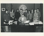 Governor Hammond signs Women's History Week proclamation, Juneau, Alaska, 1984.